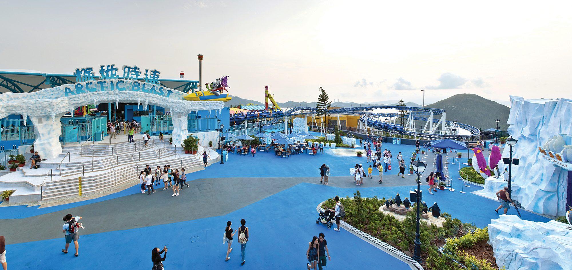 香港海洋公园高峰乐园冰极天地