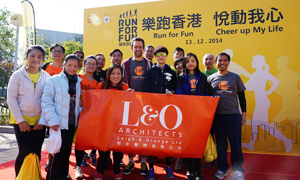 L&O joined the 5km charity run organised by Vanke
